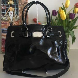 Michael Kors Hamilton Patent Leather Satchel Bag